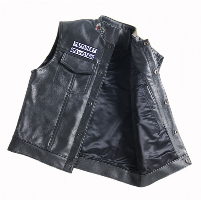 Summer Motorcycle Jacket >> SOA Men's Sons of Anarchy Leather Motorcycle Biker Vest (Free Worldwide Shipping)