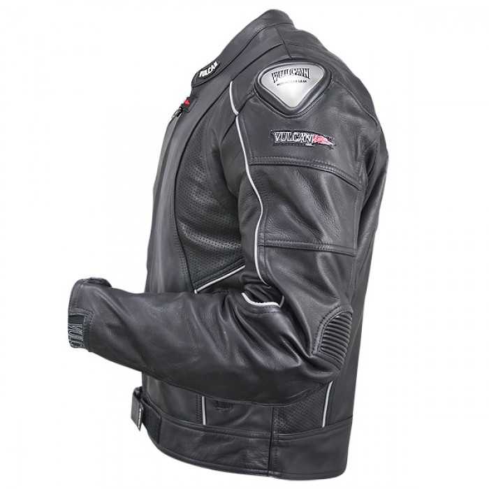 Home В» Vulcan Men's NF-8141-A Armored Leather Motorcycle Jacket with